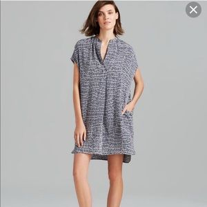 Vince static print silk dress